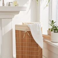 Bamboo Wicker Hamper   Urban Outfitters