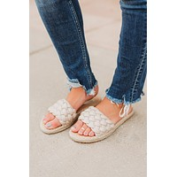 The Gwen Sandals (Taupe) FINAL SALE