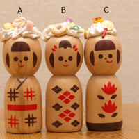 Kokeshi, Japanese doll, kawaii, sweets deco, decoden, fake sweets, Harajuku, teen gift, gift for girl, friends gift, home decor, wooden doll