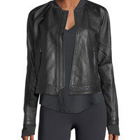 Under Armour Misty Zip-Front Leather Jacket