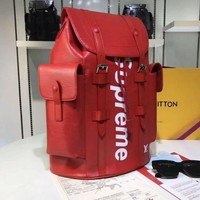 HCXX LOUIS VUITTON SUPREME MEN POCKETS BACKPACK TRAVE LV BAG