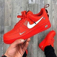 NIKE AIR FORCE 1 AF1 couples color-blocking running sneakers