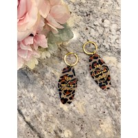 Leopard Hotel Key Chains