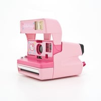 Polaroid Hello Kitty Instant Camera - Rare 90s Polaroid 600 - film tested and working - Sanrio - Made in the United Kingdom