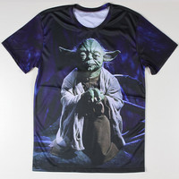 Star Wars Yoda 3d Men T Shirts Round Neck Animal Tiger Male Tee Shirt Short Sleeve Led Zeppelin Mens t-shirts Casual Top Quality
