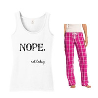 Nope Not Today Pajama Set