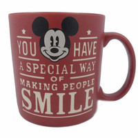 disney parks slogans newsprint mickey ceramic coffee mug new