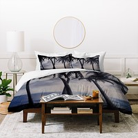 Rosie Brown Sunset Palms Duvet Cover