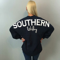 Southern Wifey Spirit Jersey in Navy