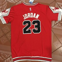 Best Sale Online Basketball Jersey Michael Jordan #23 Red Bulls Chicago t-shirt