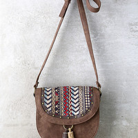 Hootenanny Brown Print Purse