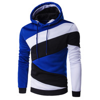 Hip Hop Hoodie Color Stitching