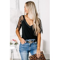 Pretty In Lace Black Detailed Top