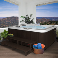 Coleman 3 Person 34-Jet Lounger Spa with Backlit LED Waterfall