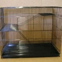 "Large Small Animal Cage Sugar Glider Chinchilla Ferret Rats Cage *30""Length x 18""Depth x 24""Height * Black"