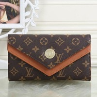 ONETOW Tagre? LV Louis Vuitton Women Leather Shopping Fashion Wallet Purse