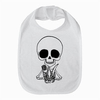 Cute skeleton baby bib