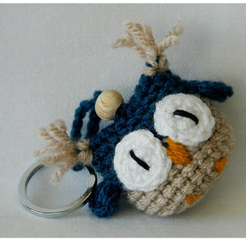 Crochet Amigurumi Owl Key Chain / Key Fob Tutorial and Pattern ... | 354x354