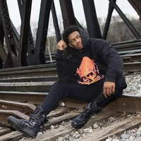 HCXX 19Sep 664 Vlone Human Skeleton Thunder Flame Large V Hoodie Sweatshirt