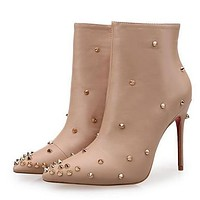 Christian Louboutin Women Fashion Casual Heels Shoes Boots-38