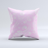 Light Pink & White Lace Pattern  Ink-Fuzed Decorative Throw Pillow