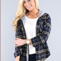 Plaid Hooded Flannels - More color options