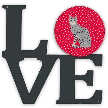 Egyptian Mau Cat Love Metal Wall Artwork LOVE CK5760WALV
