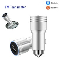New Handsfree Wireless Bluetooth FM Transmitter Car MP3 Player USB Charging Kit with Emergency Hammer Car Styling