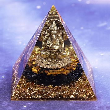 Protection and Luck Lord Ganesha Orgone Pyramid