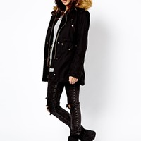 Alpha Industries Fishtail Parka With Faux Fur Lined Hood