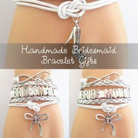 Infinity Love Wedding Bracelets Gift - 50% Off Sale - Bridesmaid Gifts