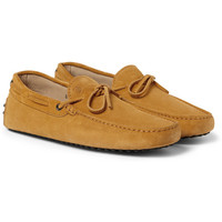 Tod's - Gommino Suede Driving Shoes   MR PORTER