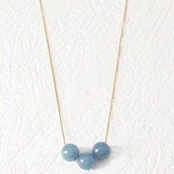 Faux Stone Bead Necklace