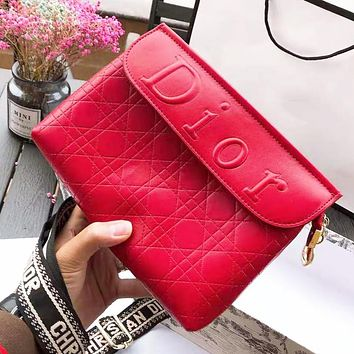 Dior Fashion Women Leather Pure Color Shoulder Bag Crossbody Satchel