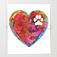 Dog Art - Puppy Love 2 - Sharon Cummings Throw Blanket by Sharon Cummings | Society6