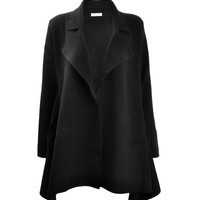 ZLYC Women's Basic Fine Knit Fit and Flare Cardigan Winter Wrap Coat