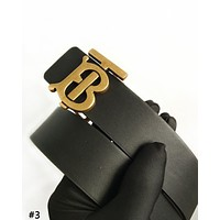 Burberry 2019 new TB letter buckle female models wild smooth buckle belt #3