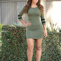 Homerun Dress - Olive