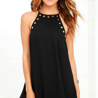 Amara Black Swing Dress