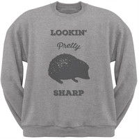 PAWS - Hedgehog Lookin' Pretty Sharp Heather Crew Neck Sweatshirt
