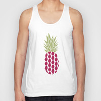 Pineapple Unisex Tank Top by Ashley Hillman