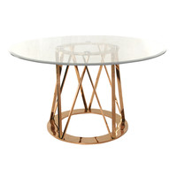 Strata Dining Table ROSE GOLD