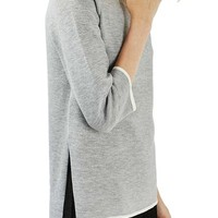 Topshop Double Faced Funnel Tunic | Nordstrom