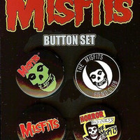 Misfits Four Button Pin Set
