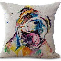 Adorable English Bulldog Throw Pillows