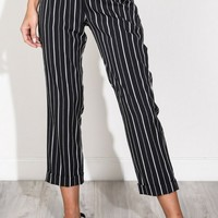 Cropped Stripped Pants