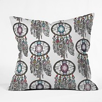 Sharon Turner Gemstone Dreamcatcher Throw Pillow