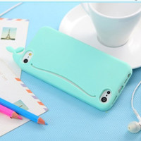 MagicPieces 3D Cute Whale Soft Silicone Case Cover For iPhone 4/4S Green