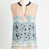 ModCloth Mid-length Sleeveless Pastime and Place Top