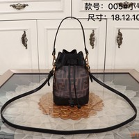 HCXX 19Oct 276 Fendi Fashion Breathable Mesh Shouder Strap Crossbody Handle Bucket Drawstring Bag 18-12-10cm